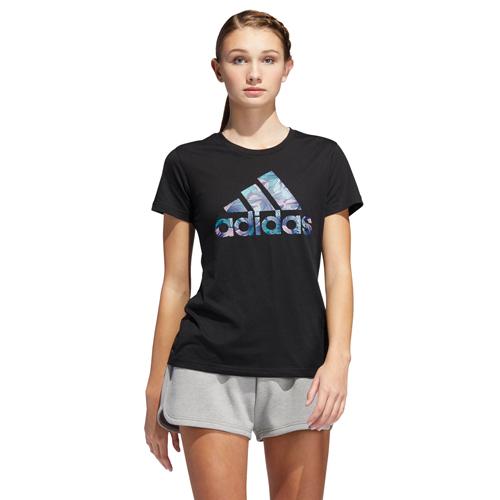 Women's Tropical T-Shirt, Black, swatch