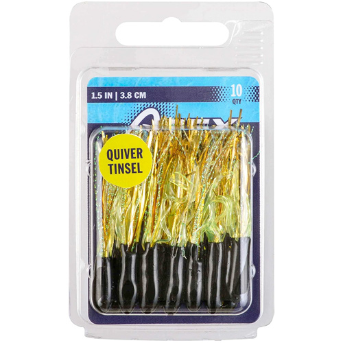 """1.5"""" Tinsel Tube Lures 10-Pack, Gold, Yellow, swatch"""