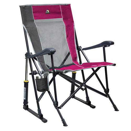Roadtrip Rocker Camping Chair, Raspberry, swatch