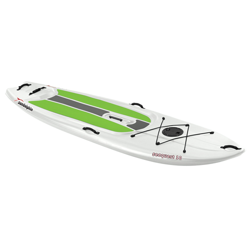 Seaquest Stand Up Paddle Board (SUP), White/Green, swatch