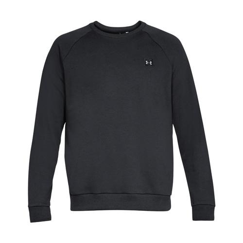 Men's Rival Long Sleeve Fleece Sweatshirt, Black, swatch