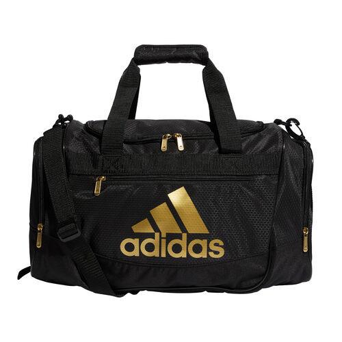 Defender III Small Duffel Bag, Black/Gold, swatch