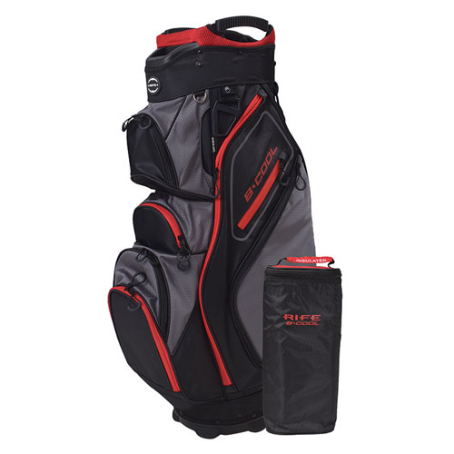 B-Cool Cooler Cart Bag, Black/Red, swatch