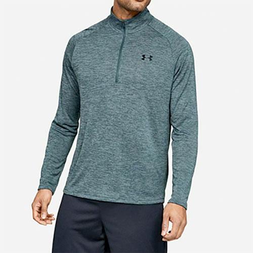 Men's Long Sleeve Tech 1/2 Zip Shirt, Gray, swatch