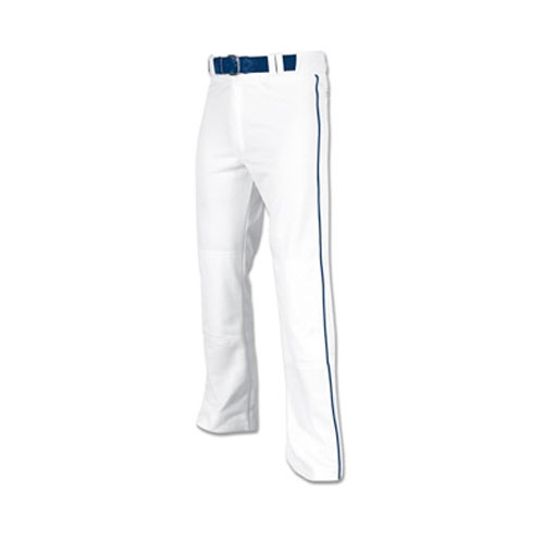 Men's Pro-Plus Open Bottom Baseball Pants, White/Navy, swatch
