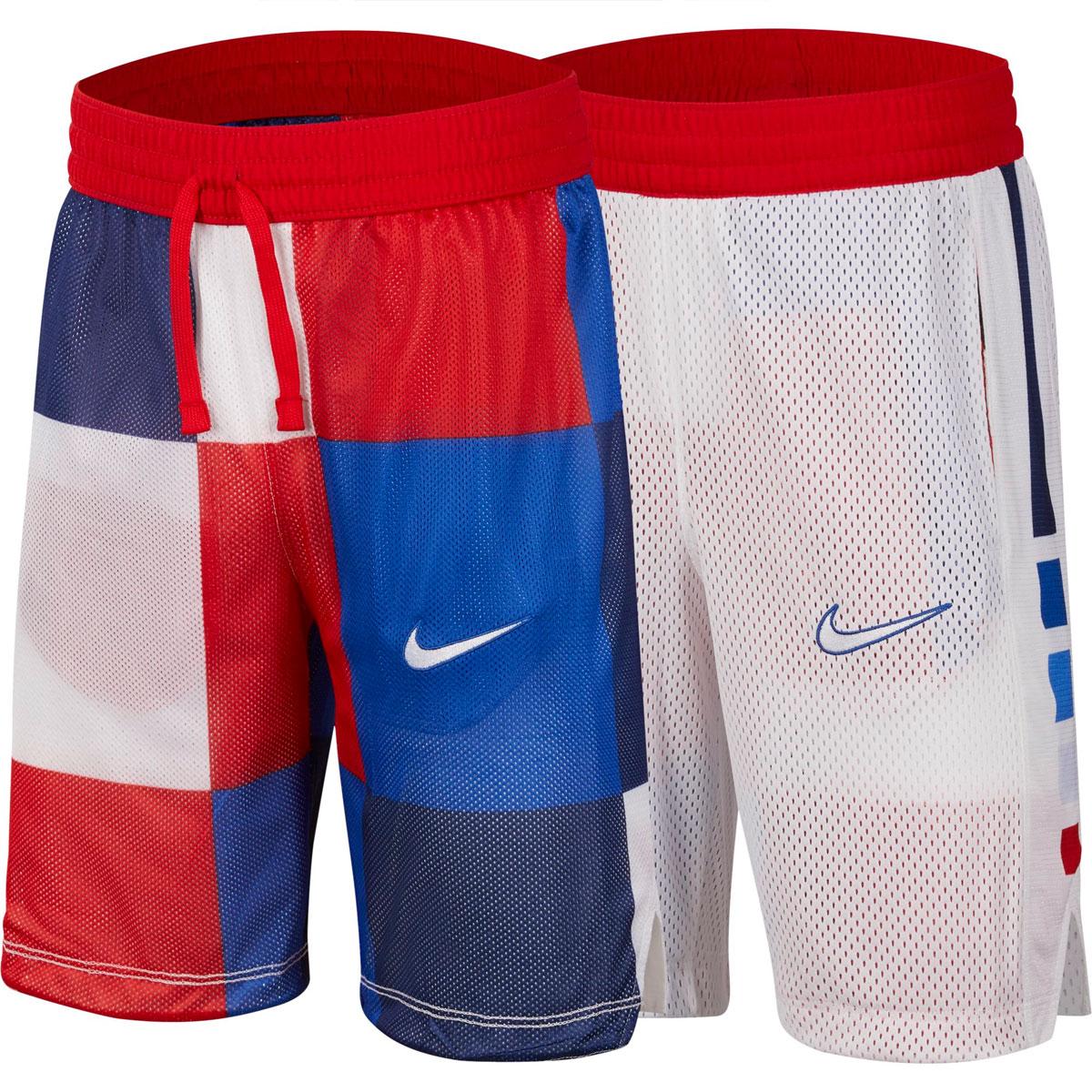 Boys' Elite Reversible Shorts, Red, swatch