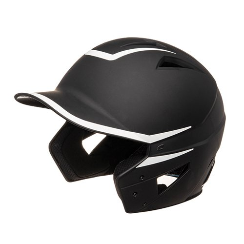 Senior HX 2-Tone Matte Batting Helmets, Black/White, swatch