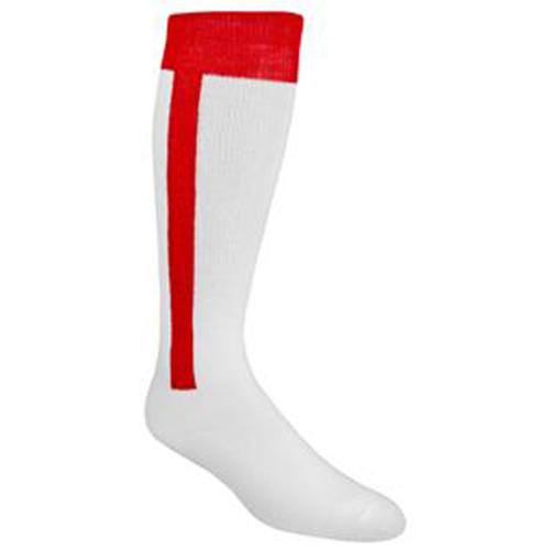Youth Stirrup Baseball Socks, Red, swatch