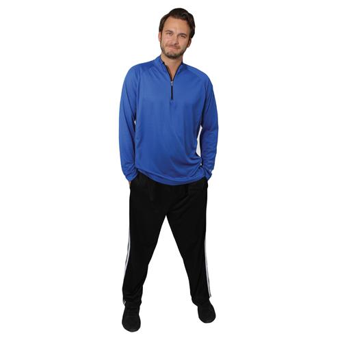 Men's Tricot Athletic Pant, Black/Black, swatch
