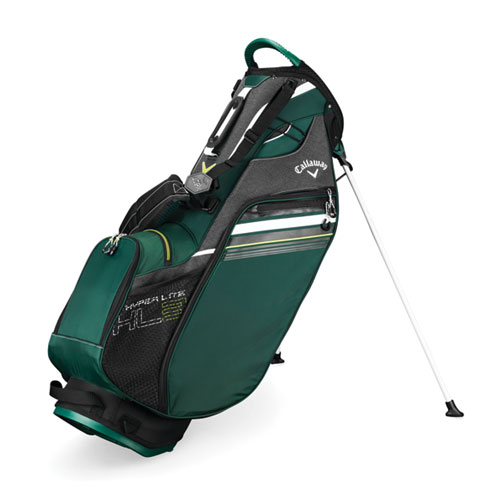 Hyper-Lite 3 Golf Stand Bag, Green/Blk, swatch