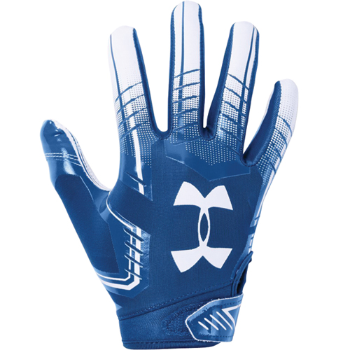 Adult F6 Football Gloves, Royal Blue/White, swatch