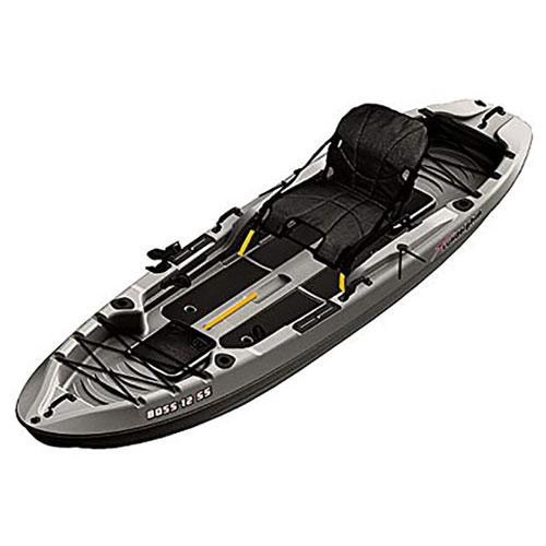12' Kingsport Angler Kayak, Gray Patterned, swatch