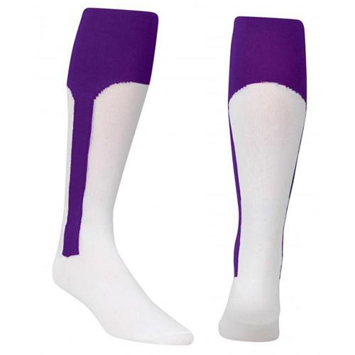 Youth Stirrup Baseball Socks, Purple, swatch