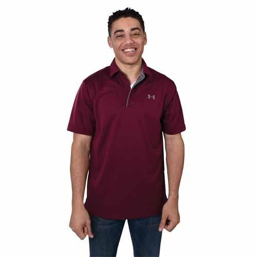 Men's Tech Golf Polo Shirt, Dk Red,Wine,Ruby,Burgandy, swatch
