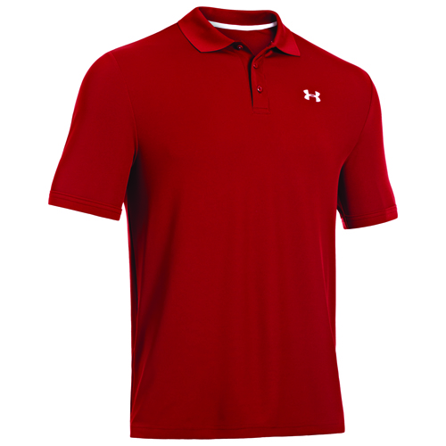 Men's Performance Polo Golf Shirt, Red, swatch