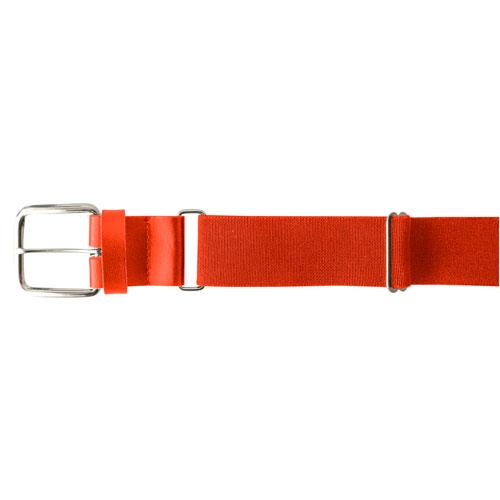 """Youth 1.25"""" Leather Baseball Belt, Orange, swatch"""