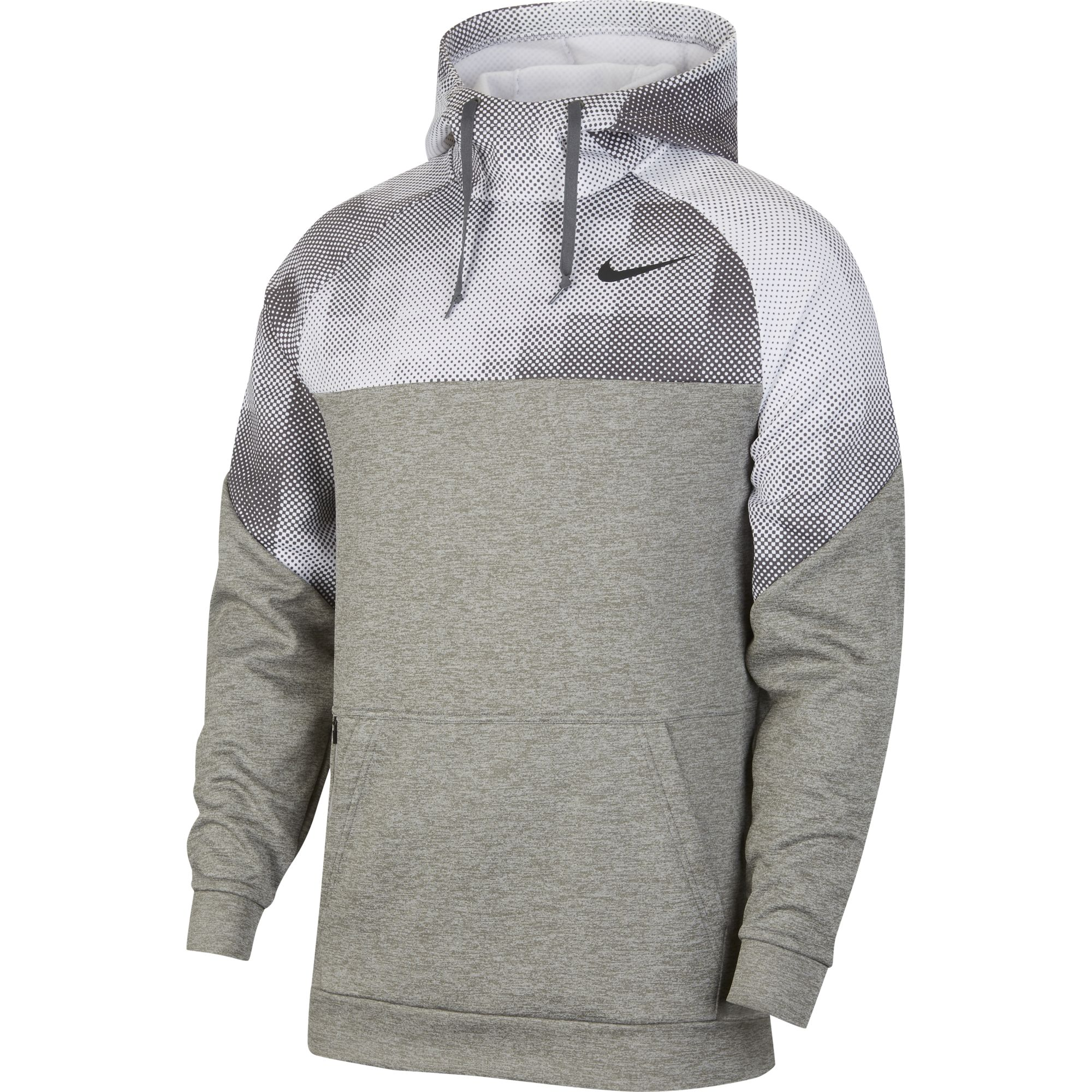 Men's Therma Pullover Hoodie, Heather Gray, swatch