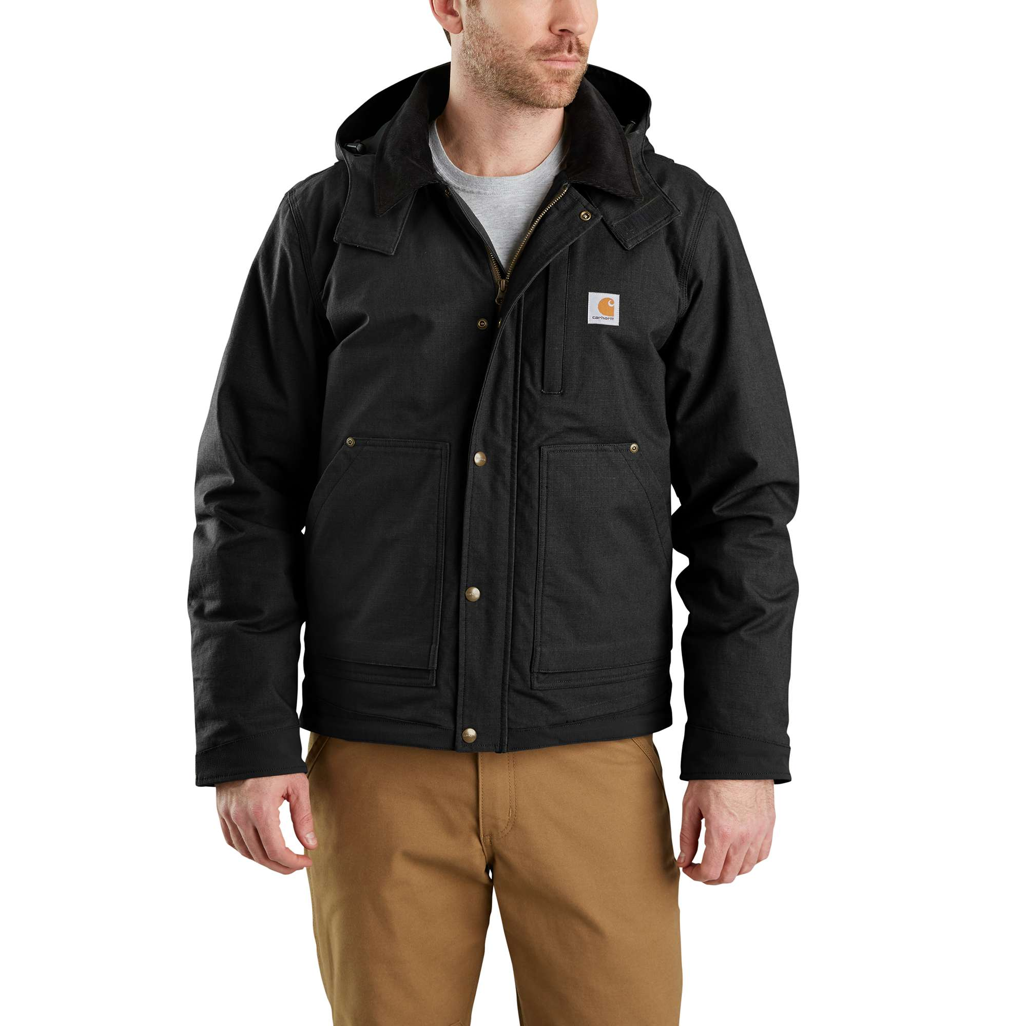 Men's Full Swing Steel Jacket, Black, swatch