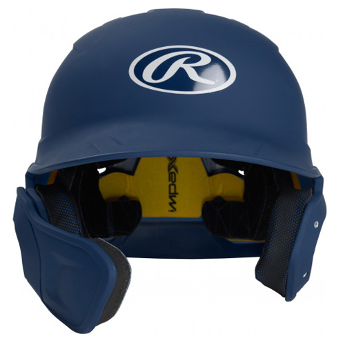 Senior MACH Matte Right-handed Batting Helmet, Navy, swatch