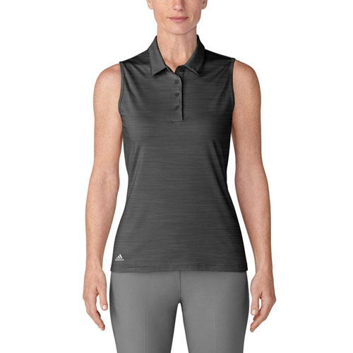 Women's Ultimate 365 Sleeveless Golf Polo, Black, swatch