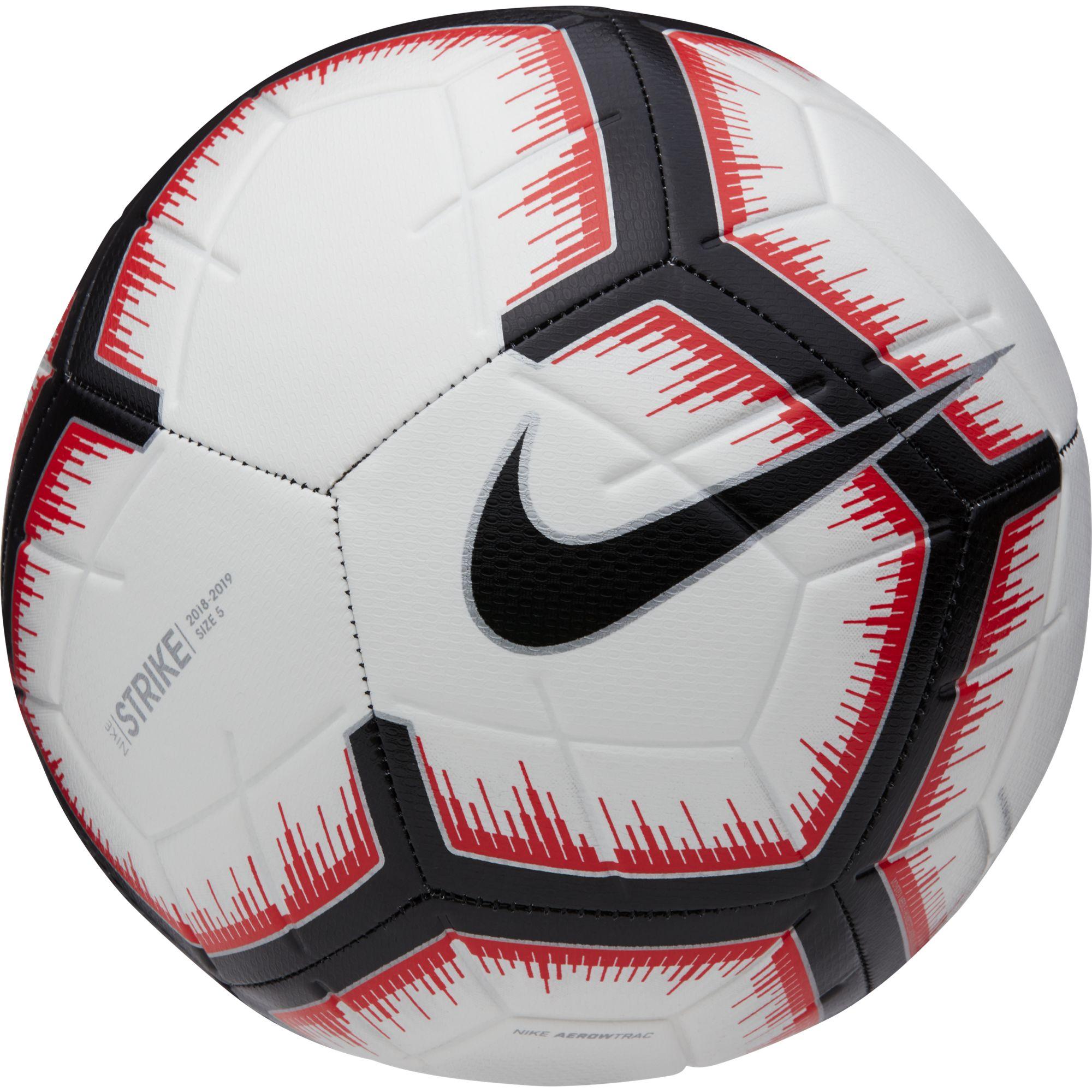 Strike Soccer Ball, White/Red/Black, swatch