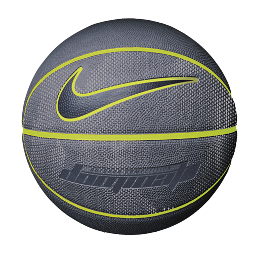 Dominate Official Basketball, Charcoal And Yellow, swatch