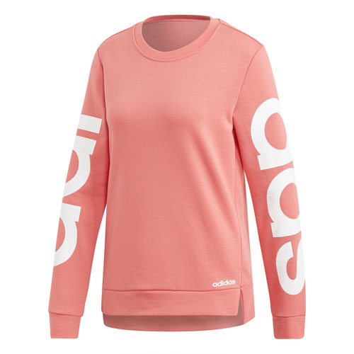 Women's Essentials Brand Sweatshirt, Coral, swatch