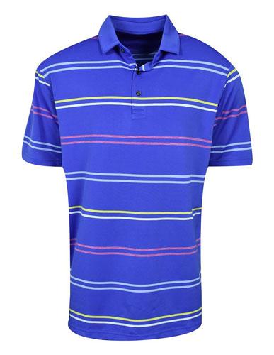 Men's Space Dye Striped Polo, White, swatch