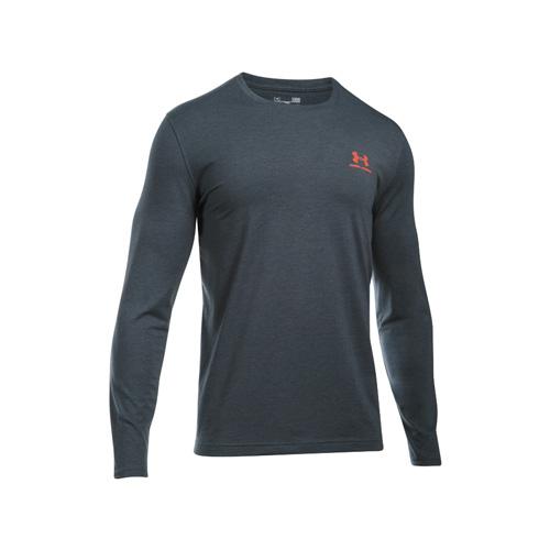 Men's Long Sleeve Left Chest Logo T-Shirt, Black, swatch