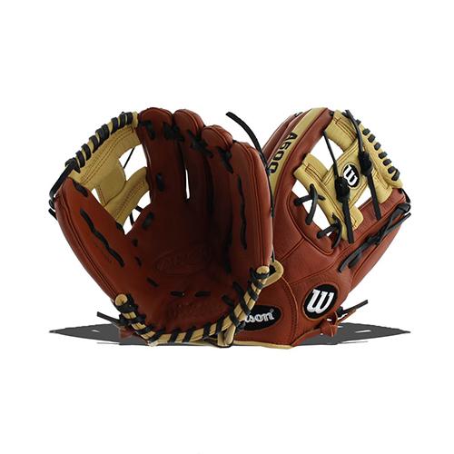 "Adult 11"" A500 Series Baseball Glove, Brown, swatch"