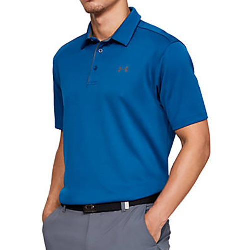 Men's Tech Polo Shirt, Blue, swatch