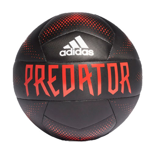 Predator Training Soccer Ball, Black/Red/White, swatch
