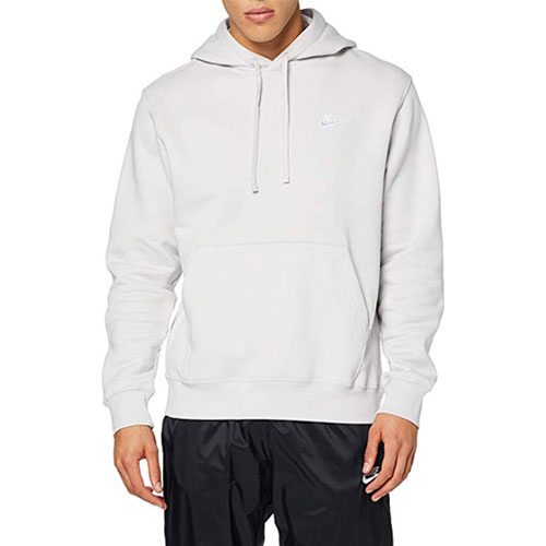 Men's Sportswear Club Fleece Pullover Hoodie, Lt Gray,Dove Gray, swatch