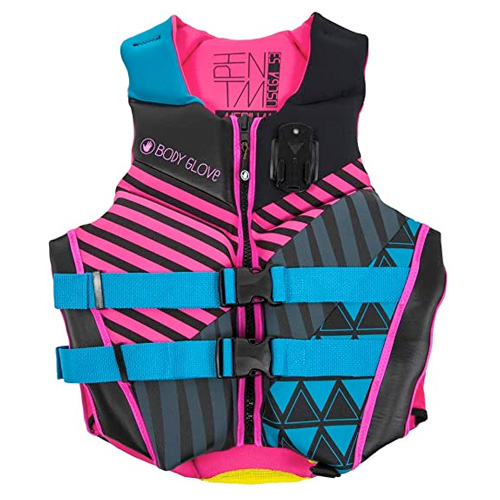 Phantom Neoprene Vest, Blue/Pink, swatch