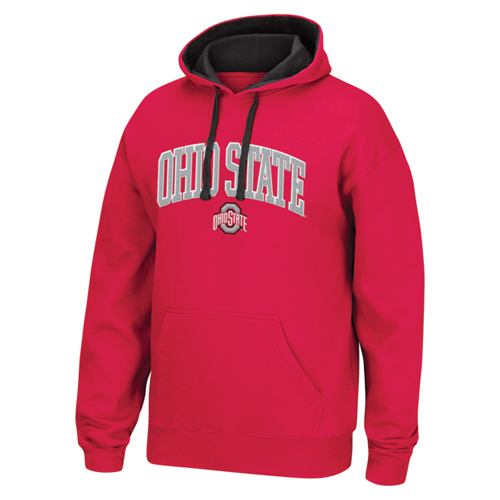 Men's Ohio State Tackle Twill Hoodie, Red, swatch