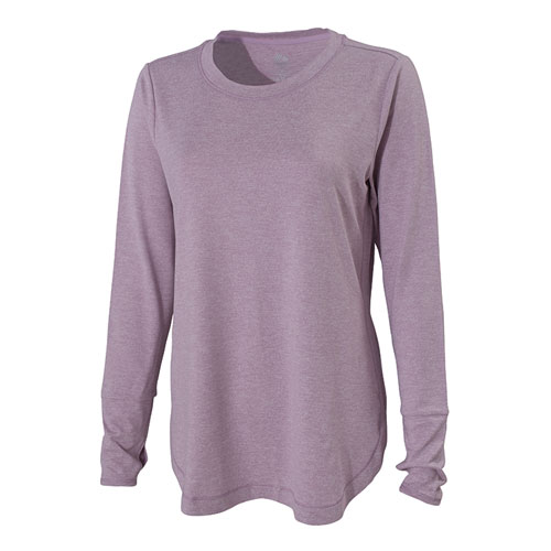 Women's Double Peached Jersey Crew Shirt, Pastel Pink,Theatrical, swatch