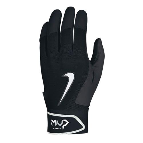Men's MVP Edge Batting Gloves, Black, swatch