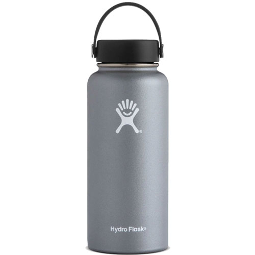 32 Oz Wide Mouth Water Bottle, Graphite, swatch