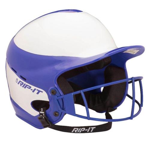 Vision Pro Softball Helmet With Mask, Royal Bl,Sapphire,Marine, swatch