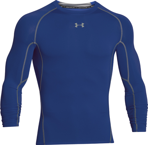 Men's HeatGear Armour Compression Long Sleeve Tee, Royal Bl,Sapphire,Marine, swatch