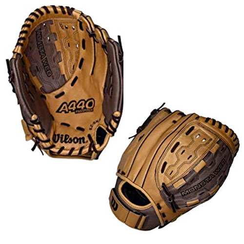"Youth Fastpitch 11.5"" A440 Softball Glove, Brown, swatch"