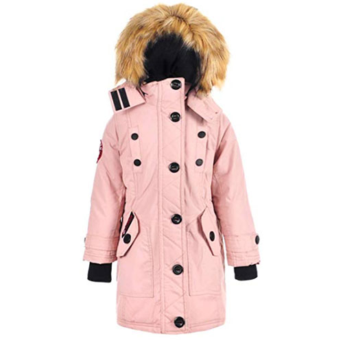 Girl's Insulated Parka, Hot Pink,Fuscia,Magenta, swatch