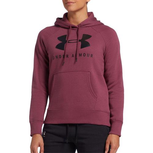 Women's Rival Fleece Sportstyle Graphic Hoodie, Dk Red,Wine,Ruby,Burgandy, swatch
