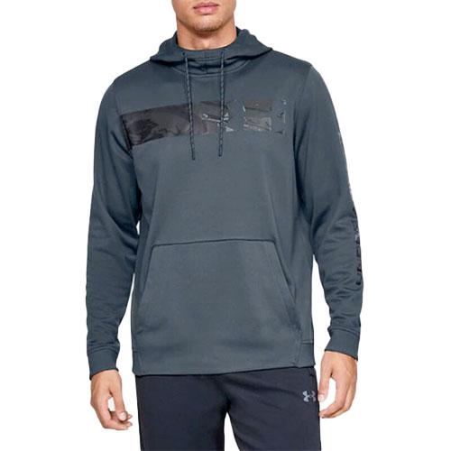 Men's Hunt Armor Fleece Hoodie, Dk Gray/Black, swatch