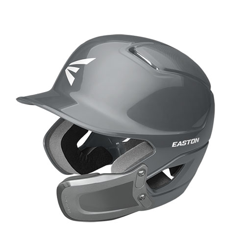 Alpha Batting Helmet with Universal Jaw Guard, Gray, swatch