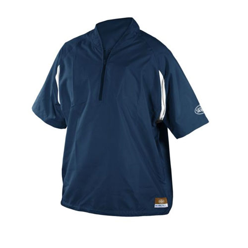 Adult Batting Cage Pull Over Jacket, Navy, swatch