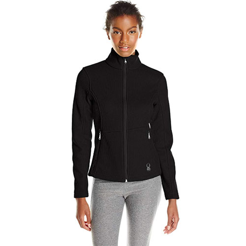 Women's Cora Full Zip Fleece, Black, swatch
