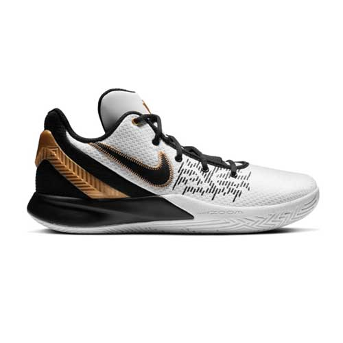 Men's Kyrie Flytrap II White/Black/Gold Basketball Shoes, , large