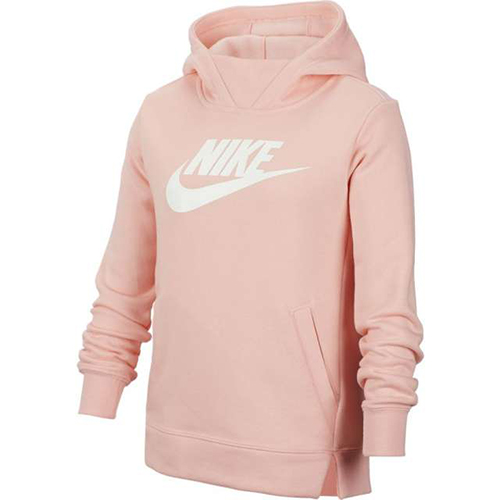 Girl's Sportswear Pullover Hoodie, Coral, swatch