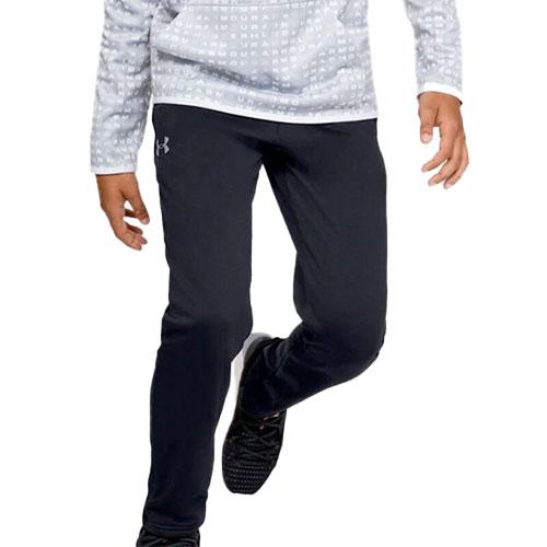 Boy's Armour Fleece Pant, Black, swatch